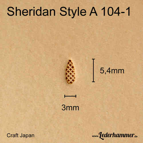 Punziereisen Sheridan Style A 104-1 - Background - Craft Japan